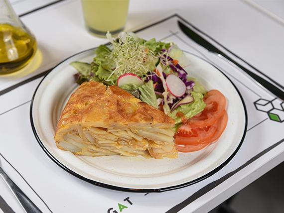 Tortilla con ensaladita