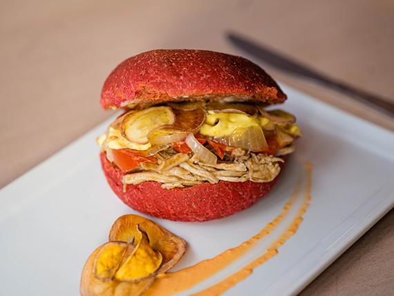 Sándwich pollo mango