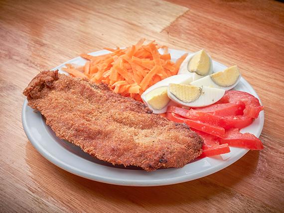 Menú del día - Suprema de pollo + Guarnición + Postre