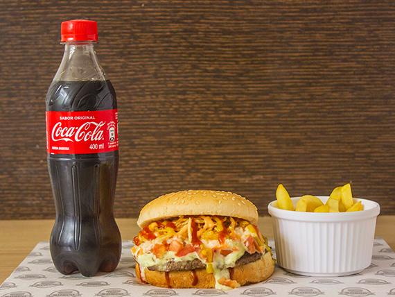 Hamburguesa Sencilla + Papa Francesa + Coca Cola 400 ml