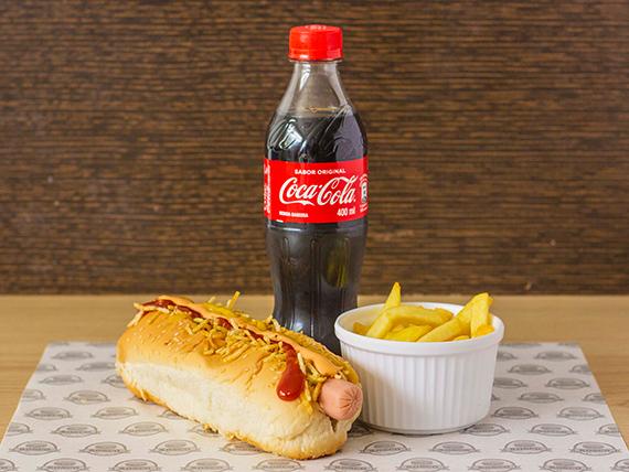 Perro Long + Papa Francesa + Coca Cola 400 ml