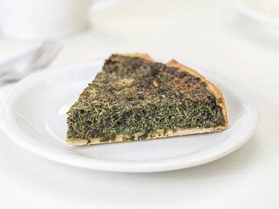 Tarta de espinaca y parmesano (porción)