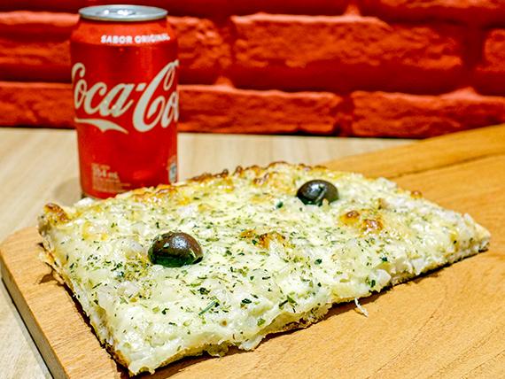 Promo - 1/4 pala mozzarella o fugazzeta + 1 gaseosa en lata