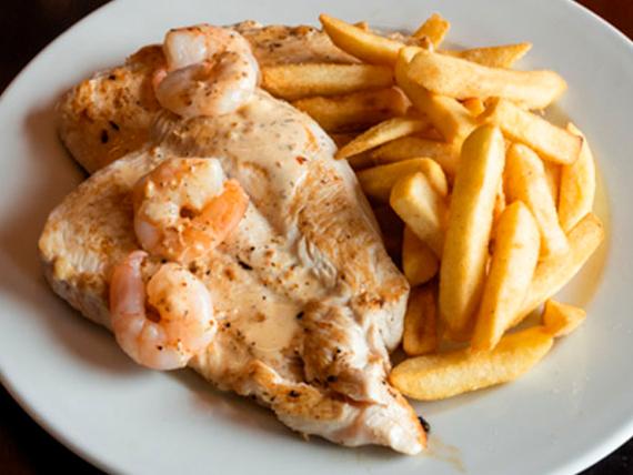 Chicken pepper shrimp