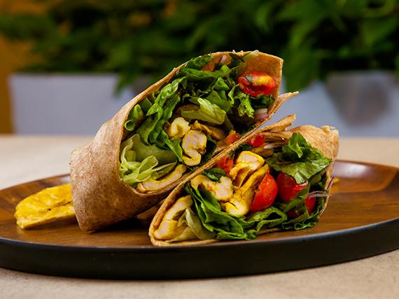 Chicken satay wrap