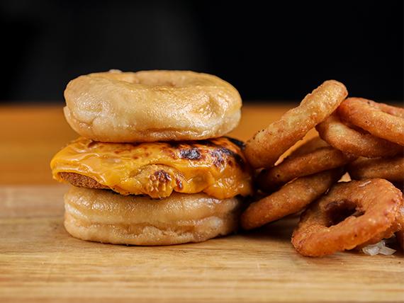 #6 Veggie Donut Burger