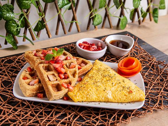 Waffles Light + Huevos