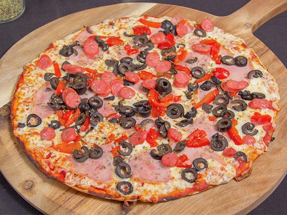 Pizza española familiar