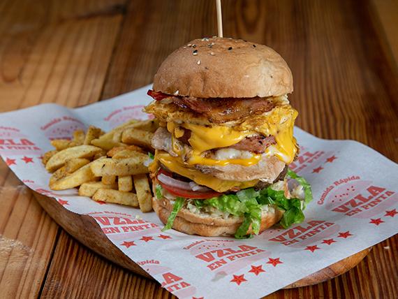 Hamburguesa rompe dieta