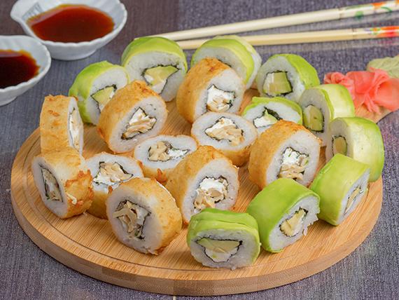 Promo  – Bacok Burger & Sushi  (20 piezas vegetarianas)