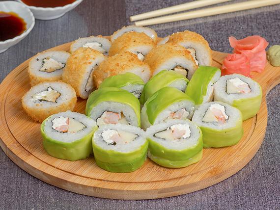 Promo – Bacok Burger & Sushi (20 piezas mix)