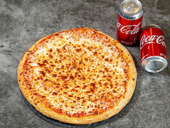 Para Dos (2 personas, 8 pedazos) + 2 latas de Coca Cola