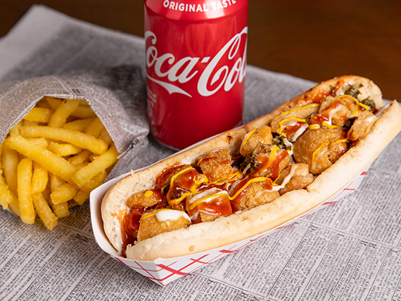 Combo - Choricsa + papas fritas + soda