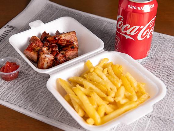 Combo - Picada de costillita ahumada + papas fritas + soda