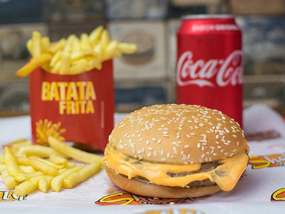 Combo Trio 2 - X burguer + batata frita + refrigerante lata