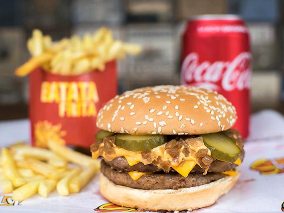 Combo Trio 6 - Duplo Picanha + batata frita + refrigerante lata