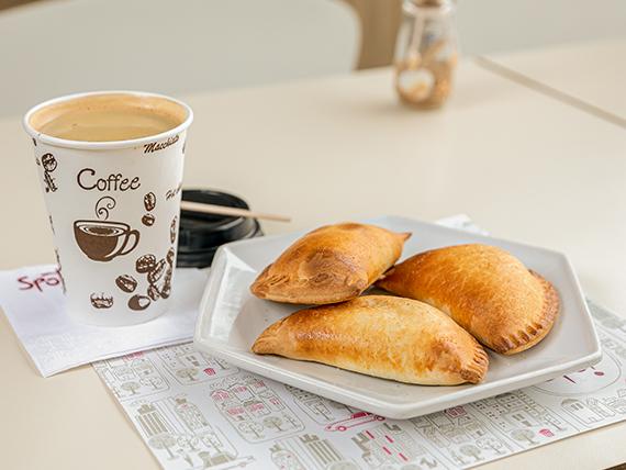 Combo - 3 empanadas El Noble + café grande