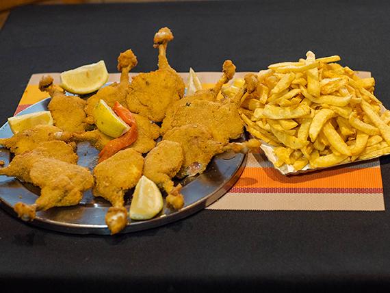Para compartir - Nuggets de pollo para dos con fritas (12 unidades)