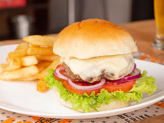 Cheese burger 200 gs con guarnición