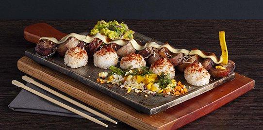 Sushi Beef a la Parrilla - Con Queso Fundido