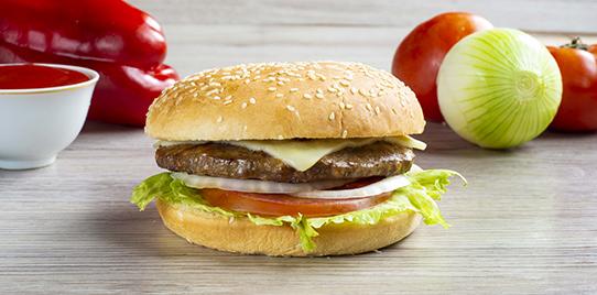 Hamburguesa Carne Tipo Premium Sencilla al Carbón