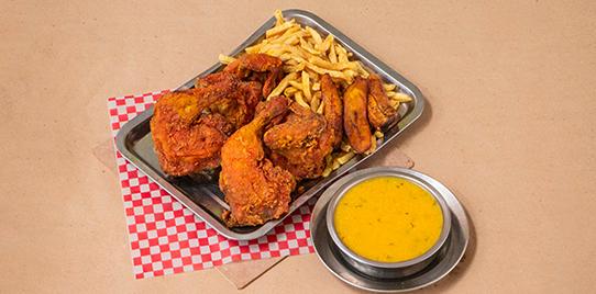 1 Pollo a la Broaster