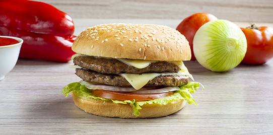 Hamburguesa Doble Carne Tipo Premium al Carbón