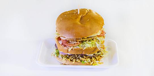 Super Hamburguesa Carne - Filet de Pollo