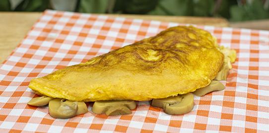 Omelette Pollo y Champiñón
