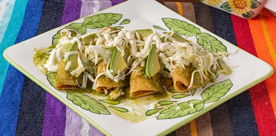 Enchilada de Pollo Verdes