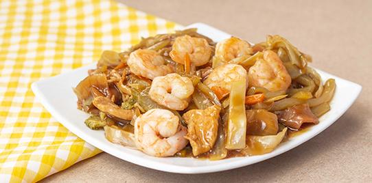 Chop Suey Especial con  Camarones