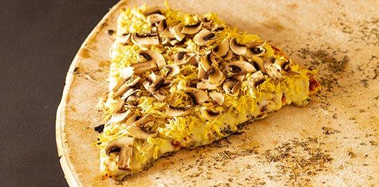 Pizza Personal Pollo con Champiñones
