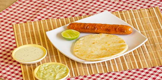 Chorizo Con Arepa Simple