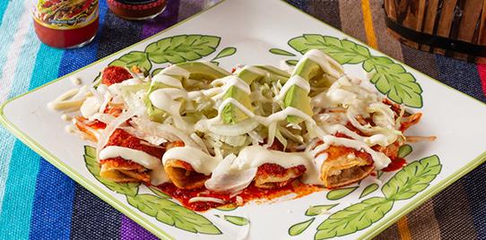 Enchilada de Pollo Rojas