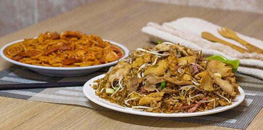 Arroz Chino con Spaguettis Mediano