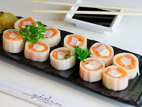 Uramaki salmão light (10 unidades)