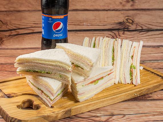 Promo - 12 sándwiches triples + bebida