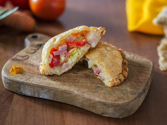 1 - Platillo con tomate, jamón, queso y huevo