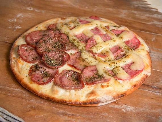 Pizza 2 sabores pequena (25 cm)