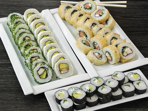 Promo - Tamashi (60 piezas) + bebida 1 L o jugos Andina 1 L