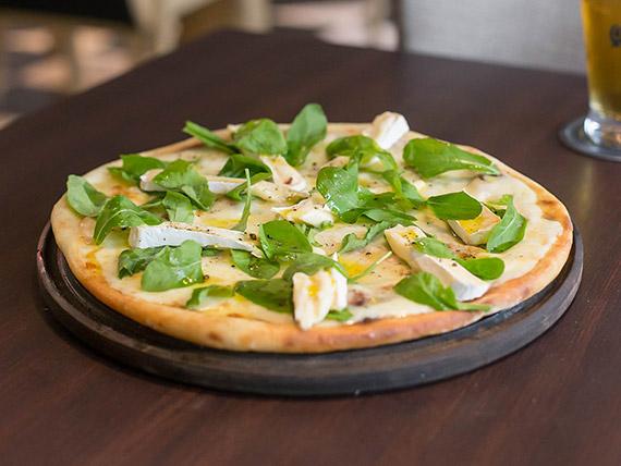 Pizza blanca al queso brie