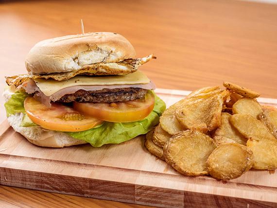 Sándwich de hamburguesa súper paty especial