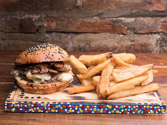 Combo - Hamburguesa francesa + papas fritas