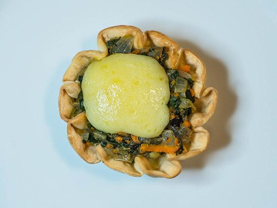 Petit panier de espinaca y mozzarella