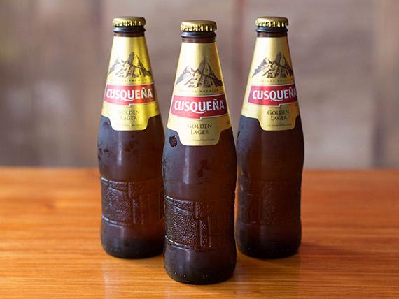 Cerveza Cusqueña porrón