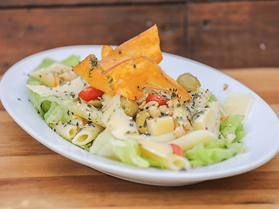 Ensalada pasta salad sin pollo
