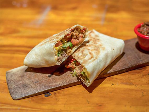Mega burrito de ternera
