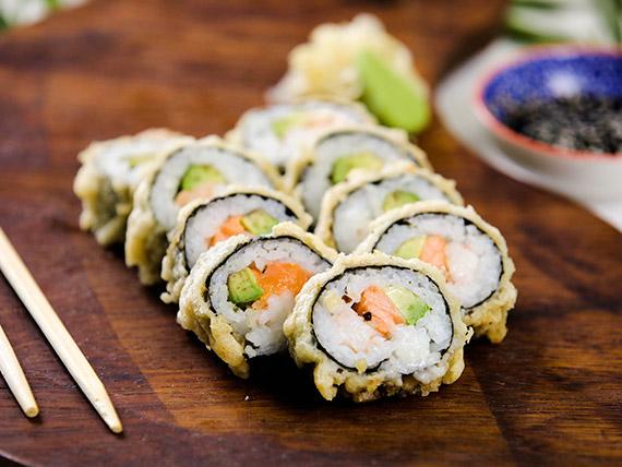 Hot roll tempura (9 piezas)