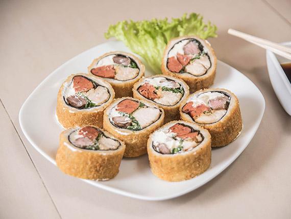Tori asado roll (8 bocados)