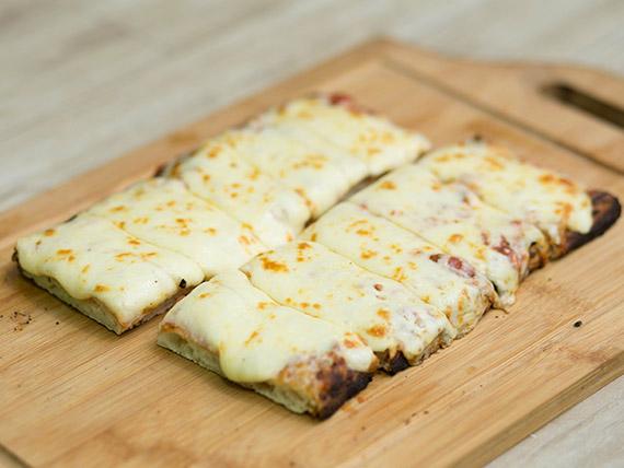 Pizza muzzarella a la pala (porción)
